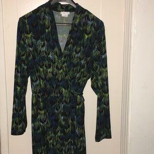 Size 22W Multi-colored Wrap Dress